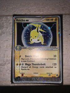Raichu ex Holo Ultra Rare E-card 98/100 Pokemon EX Sandstom Set 2003 Played