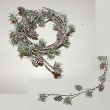 5.5 foot mini pine cone and needle garland by Spc New With Tag
