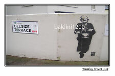 "BANKSY STREET ART ""MAKE TEA NOT WAR"" - LARGE PHOTO LOOKS GREAT FRAMED -"