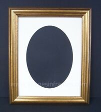 "CLASSIC GOLD 10""x8"" OVAL MOUNTED PICTURE AND PHOTO FRAME"