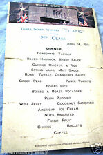 TITANIC Menu Restraunt Antique Vintage Retro London Card New York Food & Drink