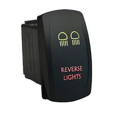 Rocker switch 626GR 12V REVERSE LIGHTS Laser LED green red 20A