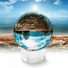 Clear Crystal Ball K9 100mm Photography Lens Sphere Ball & Stand UK Seller
