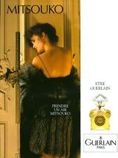 Publicité ancienne Parfum Mitsouko Guerlain 1989 issue de magazine