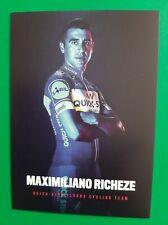 CYCLISME carte wielerkaart Maximiliano RICHEZE (Team QUICK STEP FLOORS 2018)
