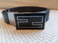 Fendi reversible leather belt navy/brown genuine
