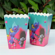 6 x Trolls Kids Popcorn Sweet Box Party Happy Birthday Superhero