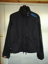 Mens Superdry Black & Blue WINDCHEATER Waterproof Coat *Size M* Great Condition