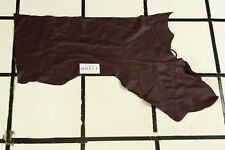 Very Pretty Classic Brewery Brown Scrap Leather Hide Approx. 3 sqft. Lr27Z2-8