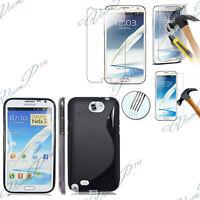Funda Cubierta De Silicona Samsung Galaxy Note 2 N7100/N7105 + 2 Films