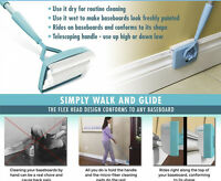 Baseboard Buddy Walk Glide Extendable Microfiber Dust Cleaning Tool UK SELLER