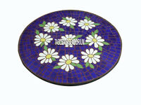 24'' Marble Center Table Coffee Side Top Inlay Marquetry Floral Garden Art Decor