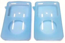 2X Apple iPod Classic 6th Generation 80 120 Silicone Skin Cover Case Blue