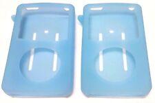 2X Apple iPod Classic 6th Generation 80 120 Silicone Skin Cover Case Blue