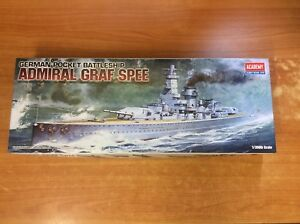 2009 Academy Hobby Model Kit Admiral Graf Spee 1/350th Scale - New & Unused