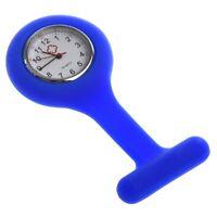 C1Q5 Mini Blue Silicone Nurse Brooch Tunic Fob Watch Nursing Nurses Pocket Watch