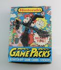 Topps+1989+NINTENDO+Game+Packs+Box+Of+45+Unopened+Sealed+Wax+Packs+Trading+Cards