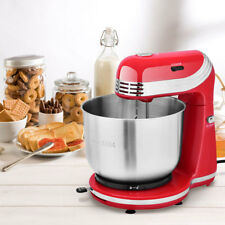 Electric Food Stand Mixer Stainless Steel 6 Speed Blender Bowl Dough Hook Beater