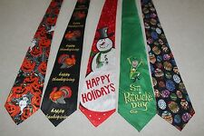 NWT Mens Neckties 5 Holiday Halloween Thanksgiving Christmas Easter St Patty #4