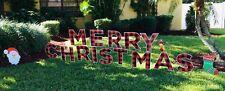 Merry Christmas Yard Letters - Plaid - Yard Art - Free Shipping