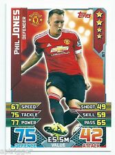 2015 / 2016 EPL Match Attax Base Card (167) Phil JONES Manchester United