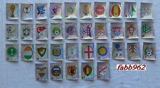 WC KOREA JAPAN Panini 2002 Complete Set 35 BADGES Stickers-New SCUDETTI edicola