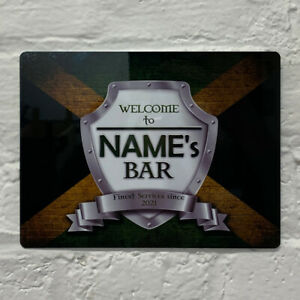 Personalised Jamaica Jamaican Flag Sign Metal Sign A4 - A5 size Bar Add Name