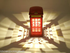 Retro London Telephone Booth Designed USB Charging LED Night Light