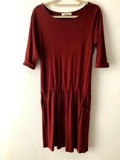SESSUN 'Yesterday' Dark Red Dress with Pockets (Size L / UK 12)