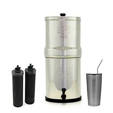 Travel Berkey Water Filter System w/ 2 Black Berkey Elements & 20 oz SS Cup