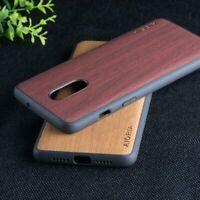 Case for OnePlus 7 7T Pro 6 6T Wood Pattern Vintage leather Skin hard case cover