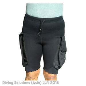 Scuba Diving 2mm Neoprene Technical Wetsuit Shorts Dive Pocket Kayaking