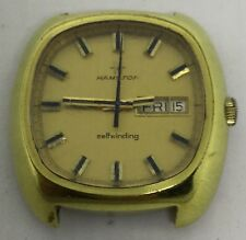 Hamilton 1970s Gold Plate Auto Mens Wrist Watch (W235)