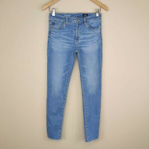AG Adriano Goldschmied The Stevie Ankle Skinny Jeans 26R Fray Hem Stretch