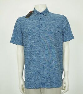 New Under Armour UA Blue Blend Loose Golf Polo Shirt Mens Large
