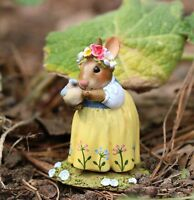 Wee Forest Folk Bunny - Bluebird of Happiness B-27
