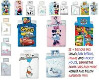 Baby Bedding Set fit COT or COT BED- PILLOW and Duvet included- DISNEY and more
