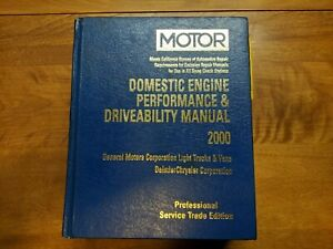 2000 Motor GM Domestic Engine Performance & Drivability Service Manual