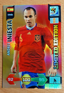 🔥 ANDRES INIESTA Limited Edition PANINI Adrenalyn XL (MVP Final World Cup 2010)