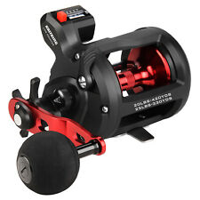 KastKing ReKon Round Fishing Reel Baitcasting Trolling Wheel w/ Line Counter US