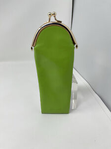 Kate Spade Reading Glasses Case Green Soft Pouch Holiday Gift Travel Coin Purse
