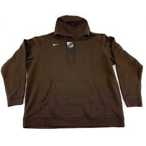 Nike Men's Club Fleece Brown Training Hoodie 835585-249 Size 3XL