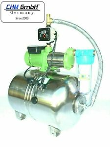 Hauswasserwerk Edelstahl 2100 Watt, 7,8 Bar + el. einstellbare Pumpensteuerung