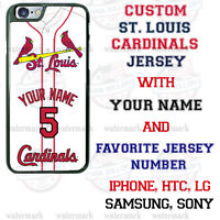 St. LOUIS CARDINALS PHONE CASE COVER FOR iPHONE SAMSUNG LG Moto etc NAME&NUMBER