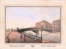 Gravure TRANQUILLO MOLLO Kupferstich,print,1815,Ferdinands Brucke, pont Ferdinan