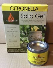 Fire Accent Firepot Citronella Solid Fuel Gel X 6 Cans Provide 9 Hours Flames