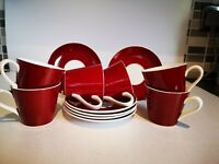 Royal Victoria Red And White Coffee Set