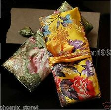 Fashion 2pcs Chinese Classic Silk Brocade Jewelry Rolls Pouch Purse Gift Bags