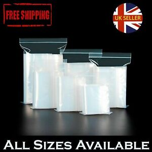High Quality Grip Seal Bags Resealable Reusable Clear Poly Plastic All Sizes UK