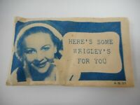 VINTAGE WRIGLEYS CHEWING GUM SAMPLE PACKET SEALED WITH CONTENTS
